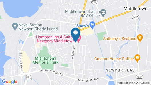 Hampton Inn & Suites Newport/Middletown Map