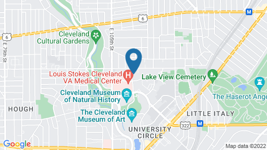 University Circle Bed and Breakfast Map