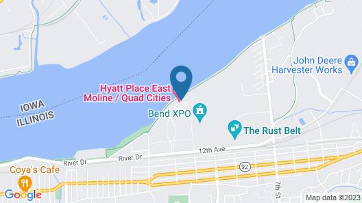 Hyatt House East Moline Quad Cities Map