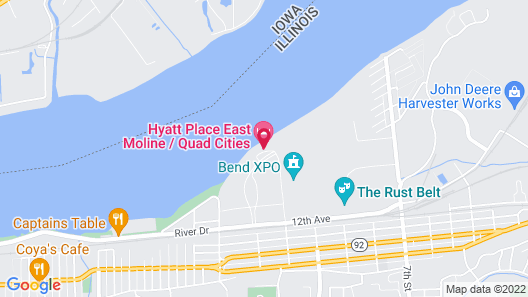 Hyatt Place East Moline Quad Cities Map