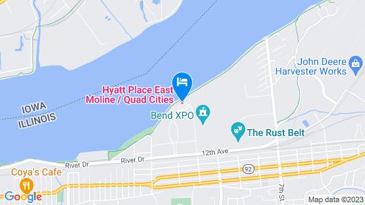 Hyatt Place East Moline Quad Cities Map