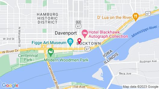 Radisson Quad City Plaza Map