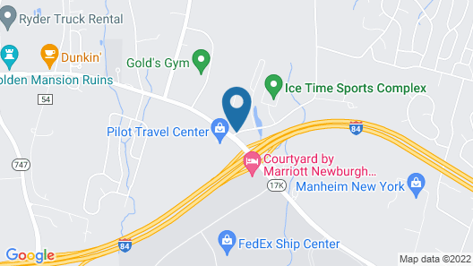 Four Points by Sheraton Newburgh Stewart Airport Map