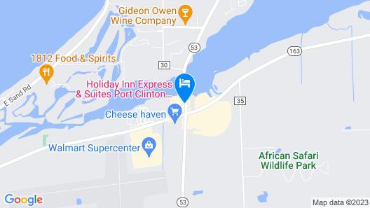 Holiday Inn Express Hotel & Stes Port Clinton-Catawba Island, an IHG Hotel Map