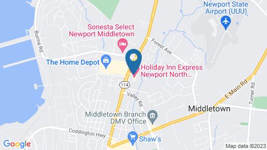 Holiday Inn Express Newport North - Middletown, an IHG Hotel Map