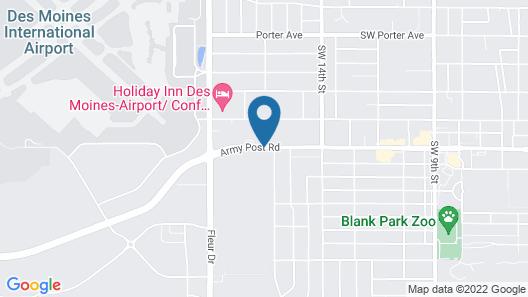 Ramada by Wyndham Des Moines Airport Map