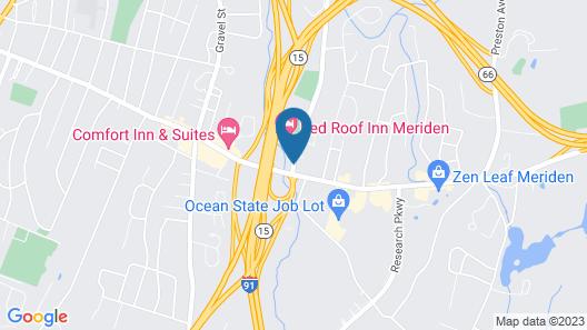 Red Roof Inn Meriden Map
