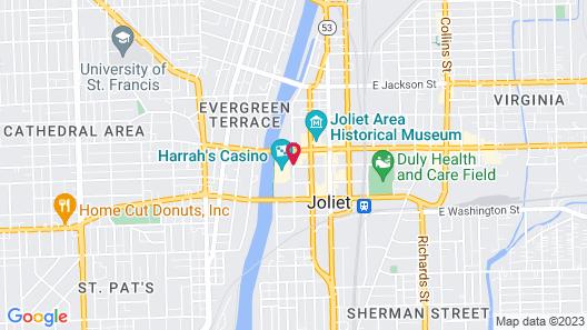Harrah's Joliet Casino & Hotel Map
