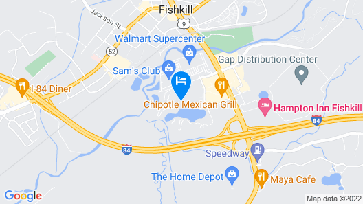 Extended Stay America Suites Fishkill Westage Center Map