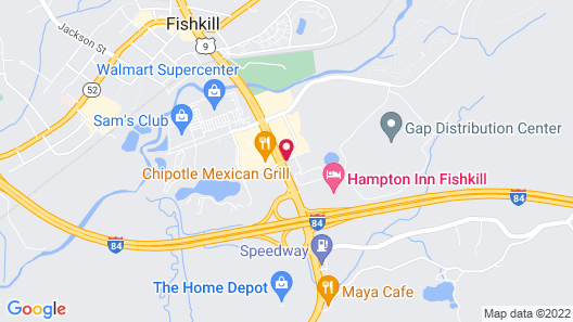 Hawthorn Suites by Wyndham Fishkill/Poughkeepsie Area Map