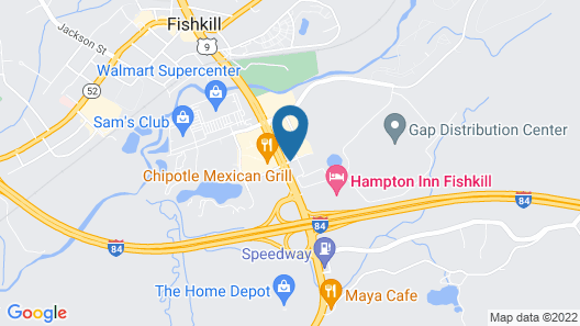 Magnuson Hotel Fishkill Map