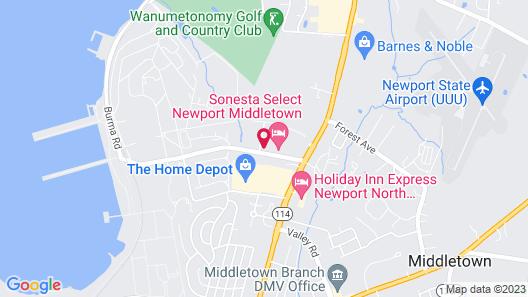 Sonesta Select Newport Middletown Map