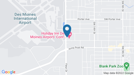 Holiday Inn Des Moines-Airport/Conf Center, an IHG Hotel Map