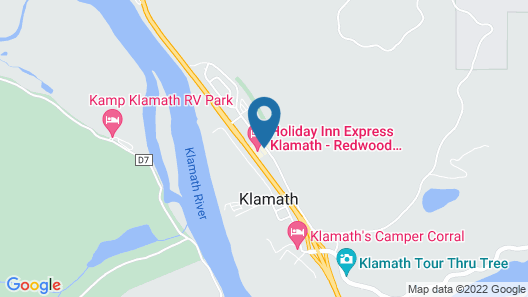 Holiday Inn Express Klamath - Redwood Ntl Pk Area, an IHG Hotel Map