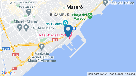 Hotel Atenea Port Barcelona Mataro Map