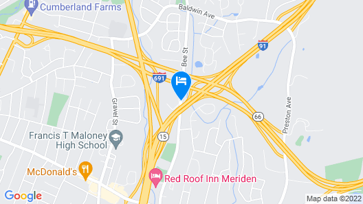 Extended Stay America Hartford - Meriden Map