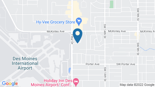 AmericInn by Wyndham Des Moines Airport Map