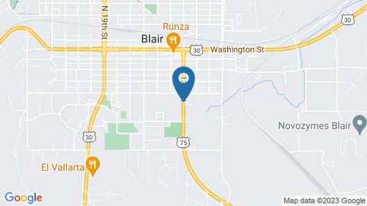 Super 8 by Wyndham Blair Map