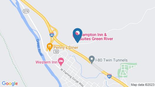 Hampton Inn & Suites Green River Map