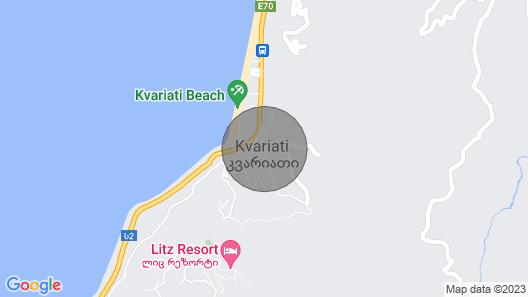 Villa Kolkhi - Private House next to the Sea Map