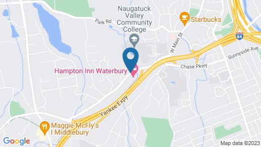 Hampton Inn Waterbury Map