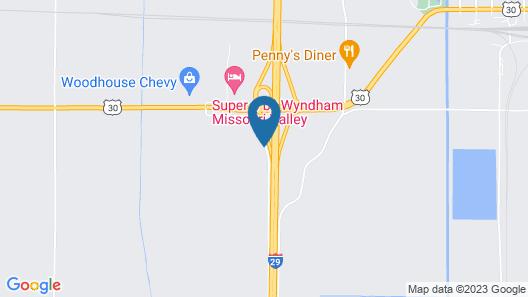 Americas Best Value Inn Missouri Valley Map