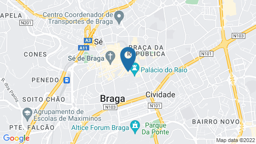 Vila Galé Collection Braga Map