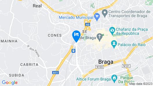 Urban Hotel da Estação Map