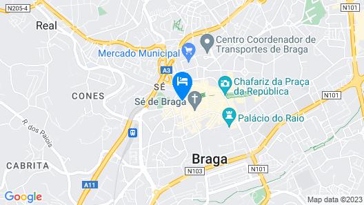 Praça 44 Boutique Apartments Map