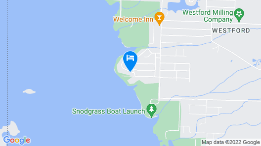 Cozy Lakefront on Pymatuning With Dock Map