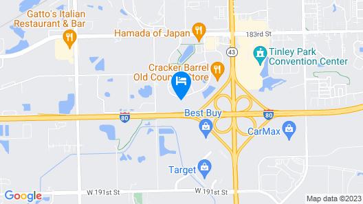 WoodSpring Suites Chicago Tinley Park Map