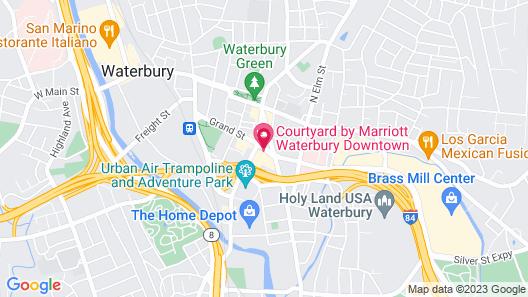 Courtyard by Marriott Waterbury Downtown Map