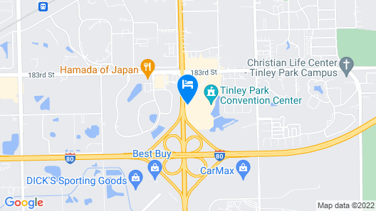 Even Hotel Tinley Park Hotel & Convention Center Map