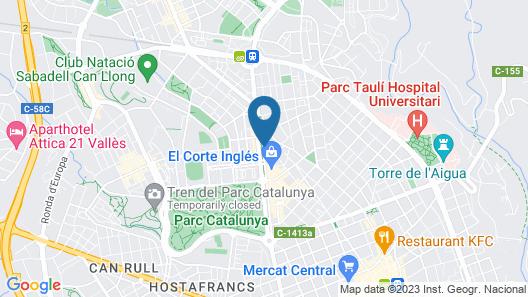 Catalonia Gran Hotel Verdi Map
