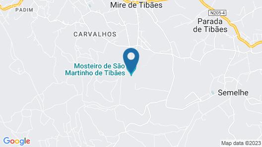 Hospedaria Convento De Tibaes Map