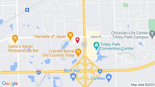 La Quinta Inn & Suites by Wyndham Chicago Tinley Park Map