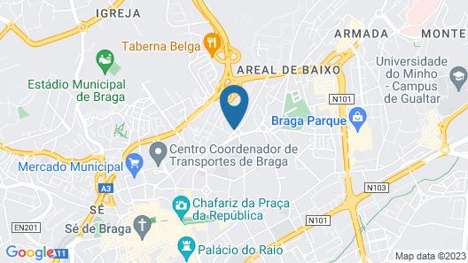 Villa Garden Braga Map