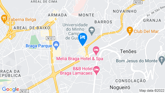 Apartment With 2 Bedrooms in Braga, With Wonderful City View, Balcony and Wifi - 40 km From the Beach Map