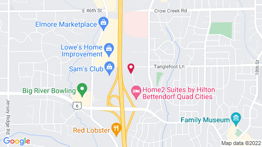 Clarion Pointe Bettendorf - Quad Cities Map