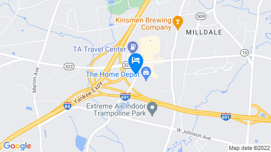 Holiday Inn Cheshire - Southington Map