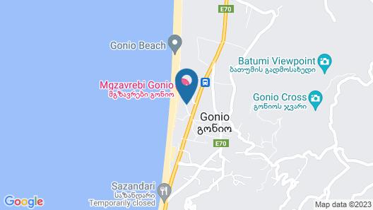 Gonio Apartments near the sea Map