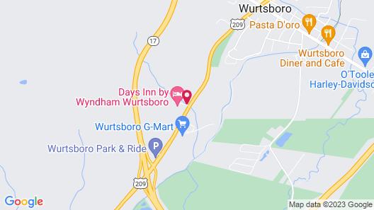 Days Inn by Wyndham Wurtsboro Map