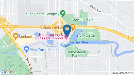 Hampton Inn & Suites Hammond Map