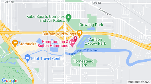 Holiday Inn Express & Suites Hammond, an IHG Hotel Map
