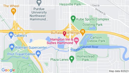 Courtyard by Marriott Chicago Southeast/Hammond Map