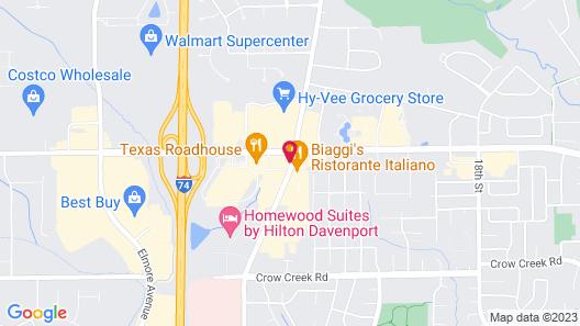 Hampton Inn & Suites Davenport Map