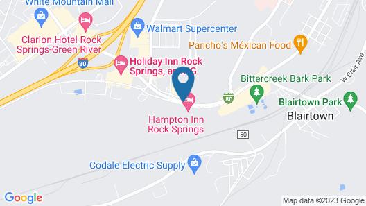 Hampton Inn Rock Springs Map