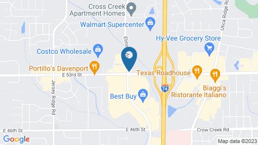 Sleep Inn & Suites Davenport - Quad Cities Map