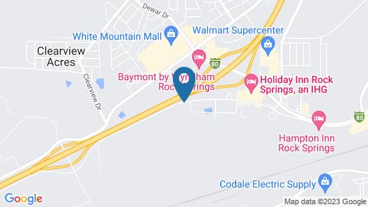 Quality Inn Rock Springs Map
