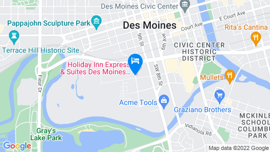 Holiday Inn Express & Suites Des Moines Downtown Map
